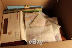 16x14x14 BOX 11 WW STAMP COLLECTION 27 Pounds BOLIVIA ALBUMS ALL ETC MAKE OFFER