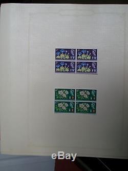 1841-1965 Valuable Collection in Red Simplex Album Blocks Covers etc 107 photos