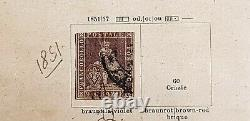 1851-1860 Italy States Tuscany Collection On Album Page Used Sg2248 Cv£1900