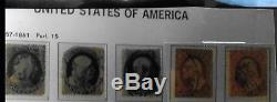 1857-1980 Collection Of U. S. A. In Four Davo Hingeless Albums
