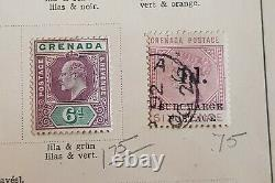 1861-1908 Grenada QV Early Collection Lot on Old album Page Used & MH inc SG1