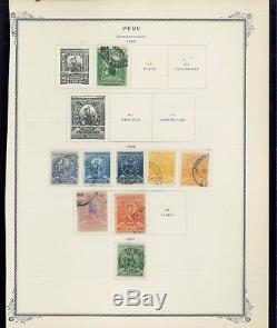 1862-1941 Peru Mint & Used Postage Stamp Collection Album Pages Value $408