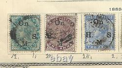 1866-1900 India Stamp Lot On Album Page, Great Collection