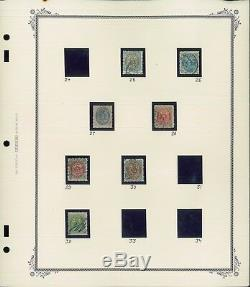 1870-1973 Denmark Used Postage Stamp Collection on Album Pages Value $660