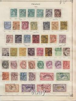 1876 -1929 Frankreich FRANCE USED COLLECTION ON OLD PAGE ALBUM CANCELLATION