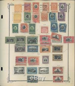 1878-1956 Panama Postage Stamp Collection on Album Pages Catalog Value $753