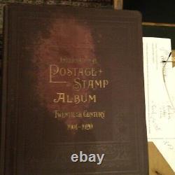 1901-1920 SCOTT STAMP COLLECTION + ALBUM. OLD Hinged and loose stamps included