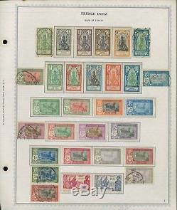 1914-1954 French India Mint & Used Stamp Collection on Album Pages Value $2,300