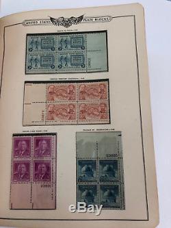 1938-1952 American Plate Block Album Minkus Collection Lot 451 Mint Stamp Blocks