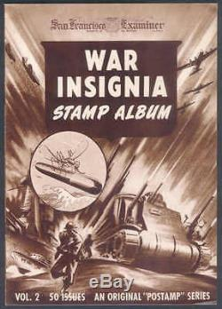 1942 War Insignia Stamp Album, Vol 2, withAll 50-Stamps