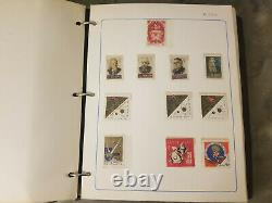 1966-77 1000+ Russia Stamp Collection In Album Mh/used Stamps