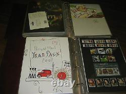 1974-2011 Yearpack Year Pack Stamp Collection Mnh Commem 2 Albums