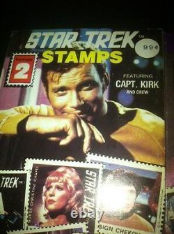 1977 Star Trek Stamp Album & 4 Of 6 Packs of Stamps-RARE Celebrity Stamps NYC