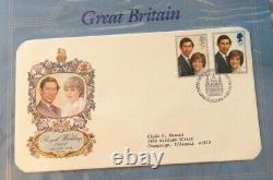 1981 Royal Wedding Prince Charles Lady Diana First Day Cover Stamp Album