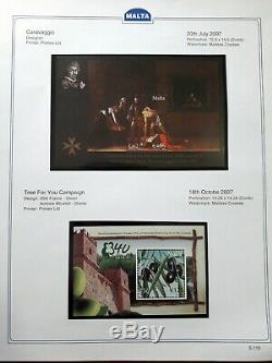1991-2015 COLLECTION MALTA ALBUM -SHEETLETS & MINIATURE SHEETS Face Value 380+