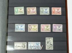 21 Photos King George VI Commonwealth Stamps Collection Album + Loose Ones #GVI