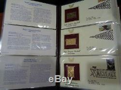 22Kt Gold Replica US stamp 2-Volume FDC album collection 2009-2013 X 147 diff