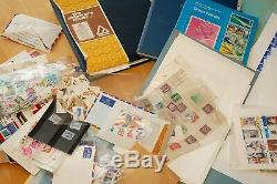 2996 Old Stamp Albums Job Lot Collection G. B Also World Wide Lots To Sort