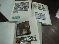 3 Albums 1971-2009 Commemorative Definitive Stamp Collection Mnh Fv£900 +used