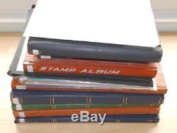 (3951) Mainly Commonwealth Collection In 7 Stock Albums + Album