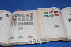 4 volume 1840-1959 Scott International Blue Stamp Collection Album A-Z nice