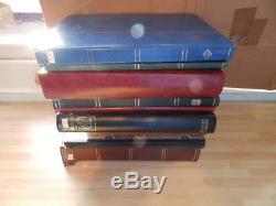 (4165) GB Stamp Collection M & U In 10 Stock Albums + Album