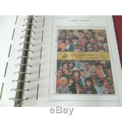 ALBUM LEUCHTTURM MONACO et ONU 1991-1995, Collection timbres