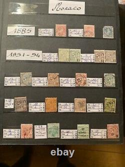 ALBUM MONACO COLLECTION De 1885 aux Années 1980 Cote Plus De 1400 80% Neufs