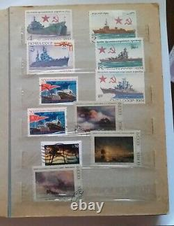 ALBUM STAMPS Soviet Union RUSSIA Collection 270 Pieces USSR 1975-1981