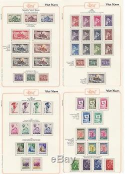 Album South Vietnam 1951-1975 100% Complete Collection MNH Luxe include Unisued