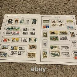 Amazing Us Stamp Lot On Nearly Complete Album Pages