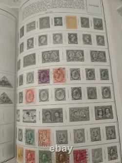 Amazing worldwide stamp collection in gigantic Harris album. 1870s forward. A++