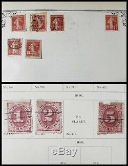 Antique VTG Mekeel's 1895 World Postage Stamp Album with Orig Stamps Collection