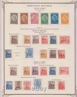 Argentina 1901-40 Officials & Department Collection On 18 Album Pages 370 Stamps