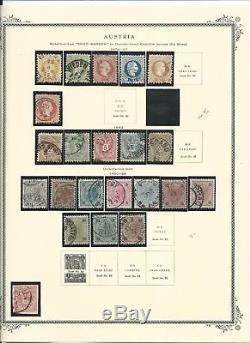 Austria Collection 1850 to 2001 in Scott Specialty Album & Binder, SCV $900