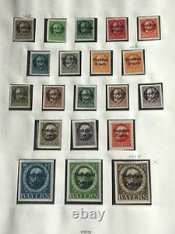 BAYERN 1849/1920 Collection in Safe Album CV + 7000 USD