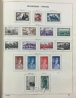 BJ Stamps FRANCE, 1849-1959, in Schaubek album, Mint or Used.'17 Scott $3546