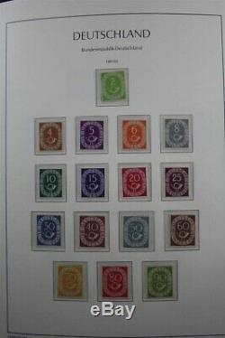 BRD Deutschland Germany MH MNH 1949-2000 2 Lighthouse Albums Stamp Collection