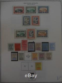 BRITISH GUIANA Beautiful Very Fine, Mint collection on album pgs. SG Cat £1322