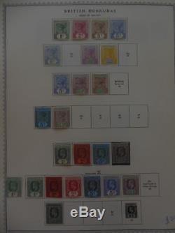 BRITISH HONDURAS Beautiful Very Fine Mint collection on album pgs SG Cat £1275