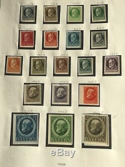 Bayern / BAVARIA 1849/1920 Collection in Safe Album CV + 5900 euros