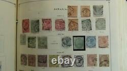 British Colonies stamp collection 3 Vol. Scott album to'89 withest #4,500 or so