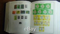 British Colonies stamp collection in 3 Vol. Minkus albums to'92 with 10k stamps
