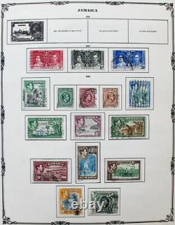 British Commonwealth 1930s-40s F-Z Stamp Collection in Scott Album