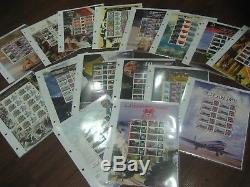 COLLECTION 121 DIFFERENT LIMITED SCARCE GENERIC SMILERS SHEETS STAMPS with ALBUM