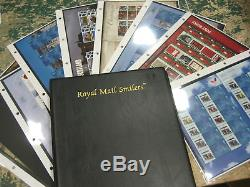 COLLECTION 36 GENERIC SMILERS SHEETS 2005-2010 STAMPS ALBUM approx fv £450