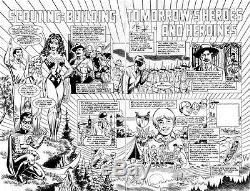 CTC Stamp Album #2 pgs. 4 & 5 Wonder Woman & Robin DPS art by Norm Breyfogle