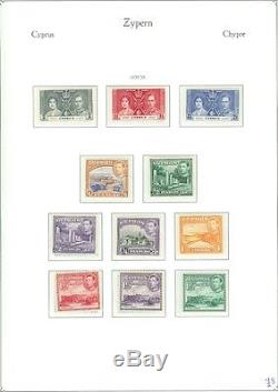 CYPRUS A Beautiful all Mint, Very Fine Original Gum collection on album pages