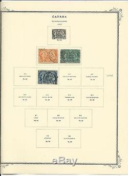 Canada Collection 1851 to 1977 in Scott Specialty Album With Binder, SCV $1050