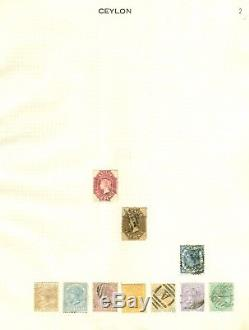 Ceylon collection 1863-1949. Mint & used on 8 album pages. Nice clean lot